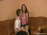 Сергей трахает Катю в попу