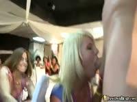 Прекрасные девушки отсасывают члены за столом