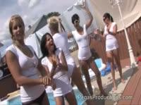 Сексуальные порно модели в белом